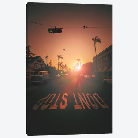 Don't Stop 3-Piece Canvas #LOO63} by Jonas Loose Canvas Print