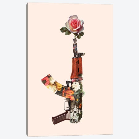 Flower Gun Canvas Print #LOO66} by Jonas Loose Canvas Wall Art