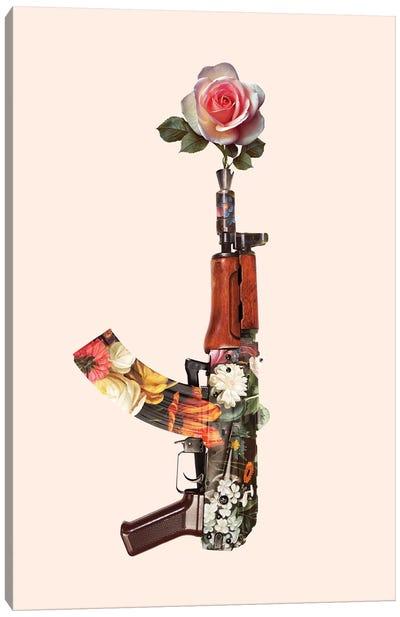 Flower Gun Canvas Art Print