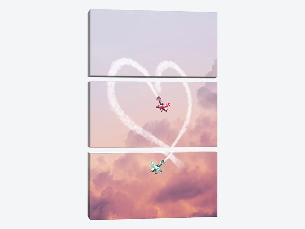 Love Is In The Air by Jonas Loose 3-piece Canvas Print
