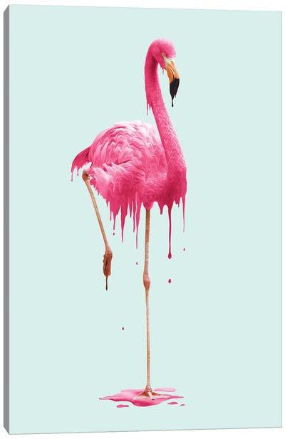 Melting Flamingo Canvas Art Print
