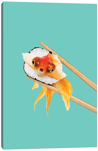 Sushi Goldfish Canvas Art Print