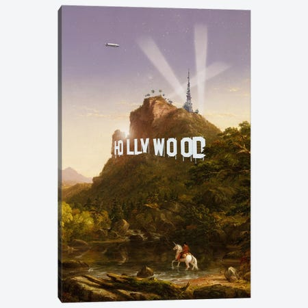 Hollywood Canvas Print #LOO83} by Jonas Loose Art Print
