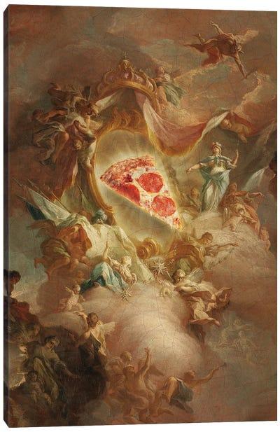 The Holy Pizza Canvas Art Print