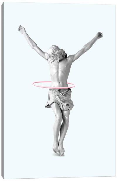 Hula Hoop Jesus Canvas Art Print