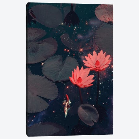 Swimming through Space Canvas Print #LOO97} by Jonas Loose Art Print