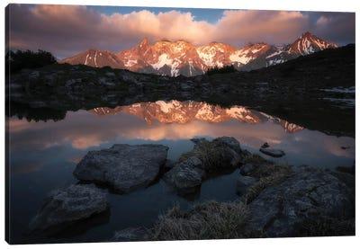 Glowing Peaks Canvas Art Print
