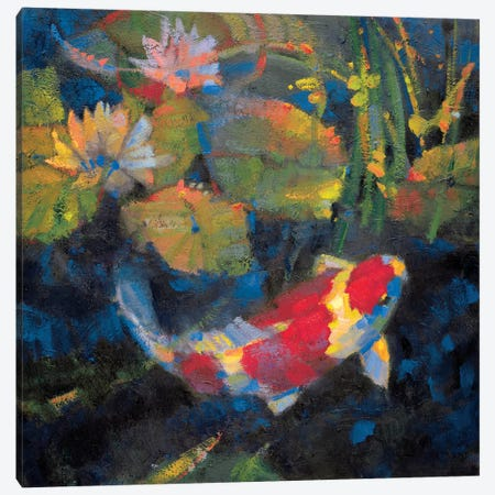 Water Garden I Canvas Print #LOS3} by Leif Ostlund Canvas Art