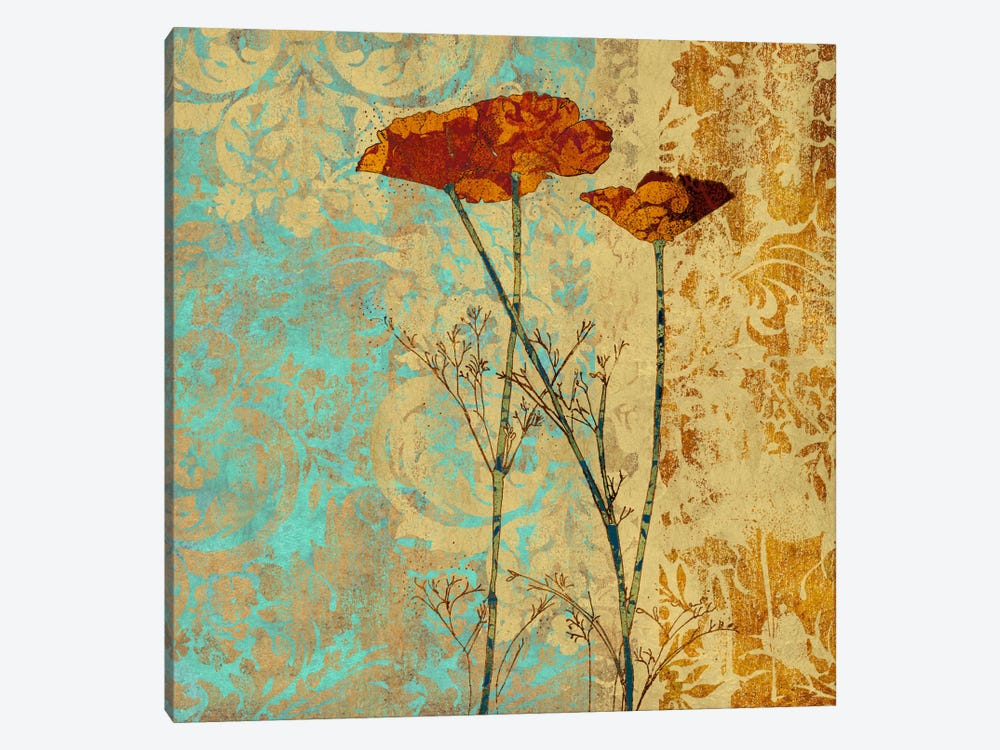 Poppies And Damask II by Louise Montillio 1-piece Art Print