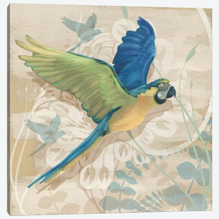 Parrot Society I Canvas Print #LOU7} by Louise Montillio Canvas Print