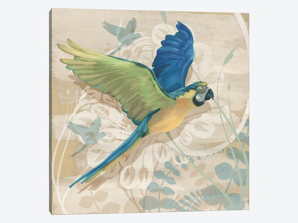 Parrot Society I by Louise Montillio 1-piece Canvas Art