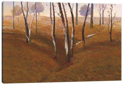 French Oaks Canvas Art Print