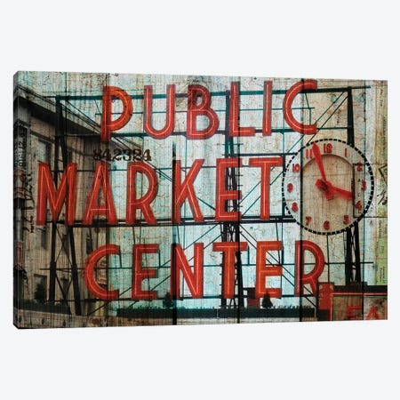 Public Market Canvas Print #LOY13} by Sandy Lloyd Canvas Artwork