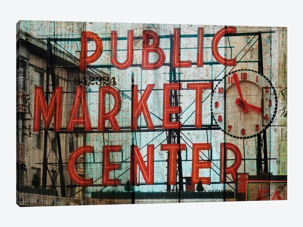 Public Market 1-piece Canvas Art