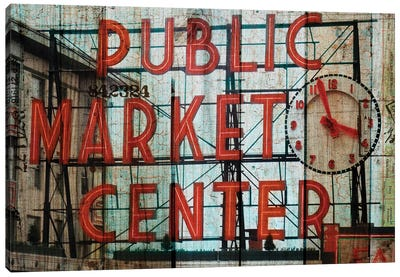 Public Market Canvas Art Print