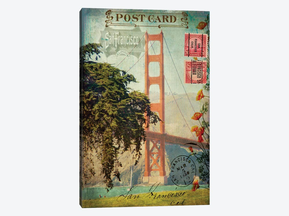San Francisco, CA by Sandy Lloyd 1-piece Canvas Print