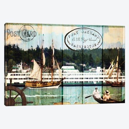 Tall Ships on the Sound Canvas Print #LOY18} by Sandy Lloyd Canvas Art