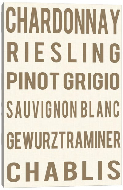 White Wine Canvas Art Print