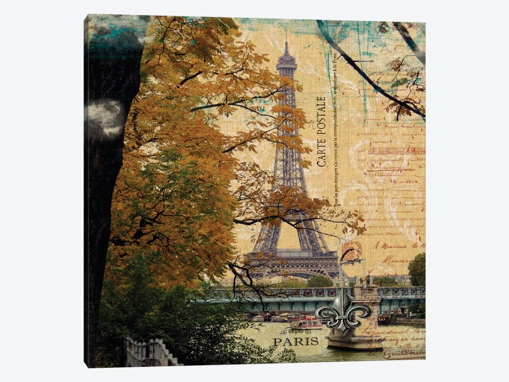 Eiffel Romance III by Sandy Lloyd 1-piece Canvas Art Print