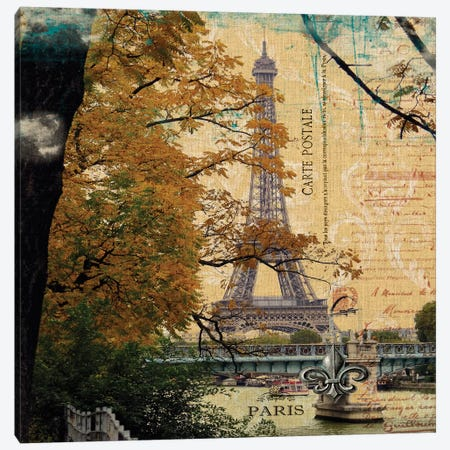 Eiffel Romance III Canvas Print #LOY36} by Sandy Lloyd Canvas Art Print