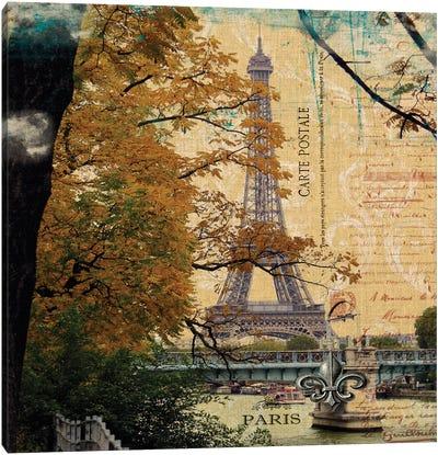Eiffel Romance III Canvas Art Print
