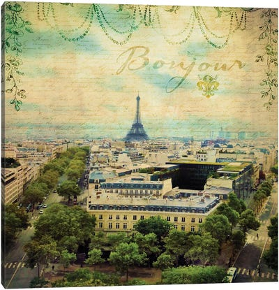 Eiffel Romance V Canvas Art Print