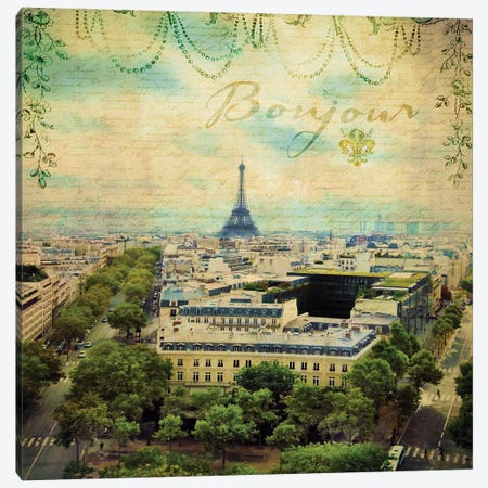 Eiffel Romance V Canvas Print #LOY38} by Sandy Lloyd Canvas Artwork