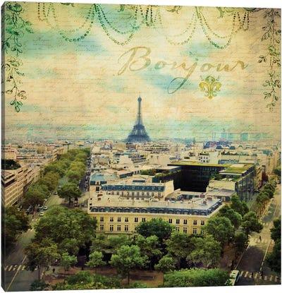 Eiffel Romance V Canvas Art Print