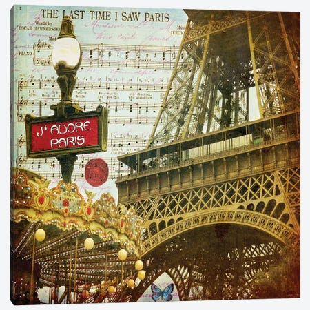 Eiffel Romance VI Canvas Print #LOY39} by Sandy Lloyd Canvas Art
