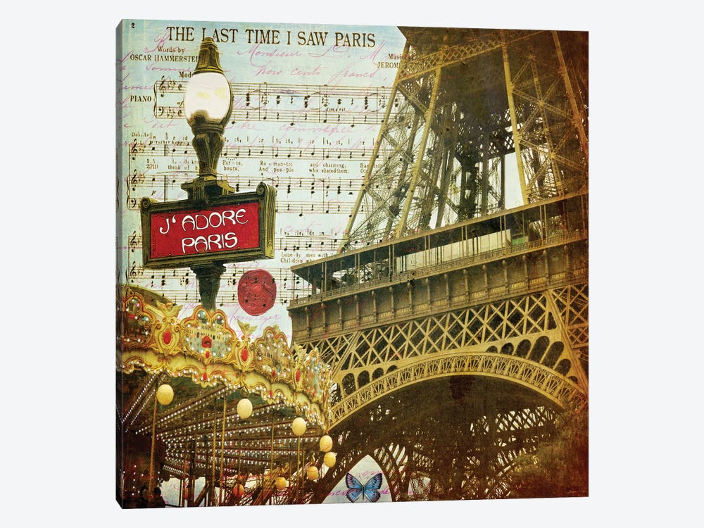 Eiffel Romance VI by Sandy Lloyd 1-piece Canvas Artwork