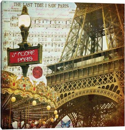 Eiffel Romance VI Canvas Art Print