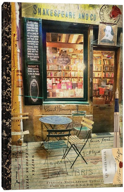 Paris Bistro II Canvas Art Print