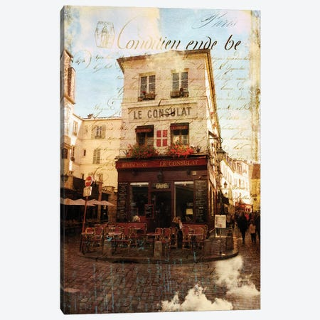 Paris Bistro III Canvas Print #LOY55} by Sandy Lloyd Art Print