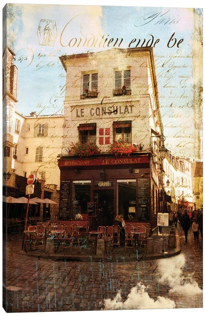 Paris Bistro III Canvas Art Print