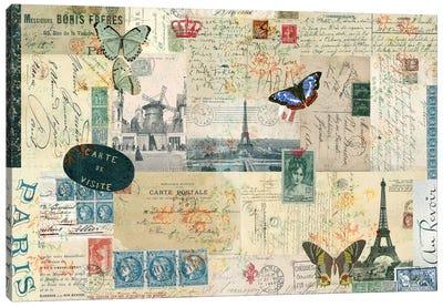 Postcards Of Paris I Canvas Art Print