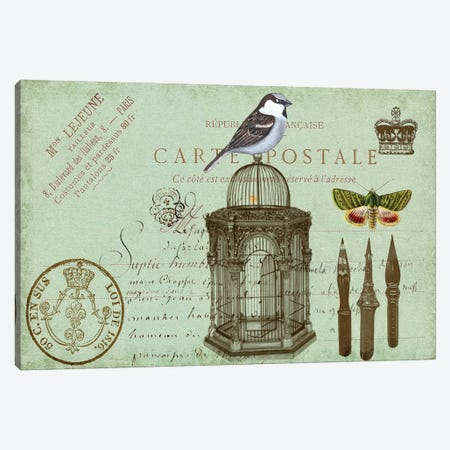 Postcards Of Paris II Canvas Print #LOY58} by Sandy Lloyd Canvas Art