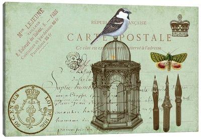 Postcards Of Paris II Canvas Art Print