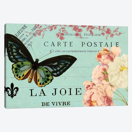 Postcards Of Paris IV Canvas Print #LOY60} by Sandy Lloyd Canvas Print