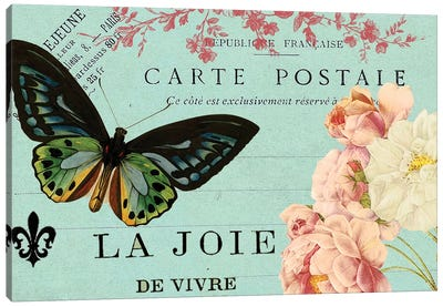 Postcards Of Paris IV Canvas Art Print