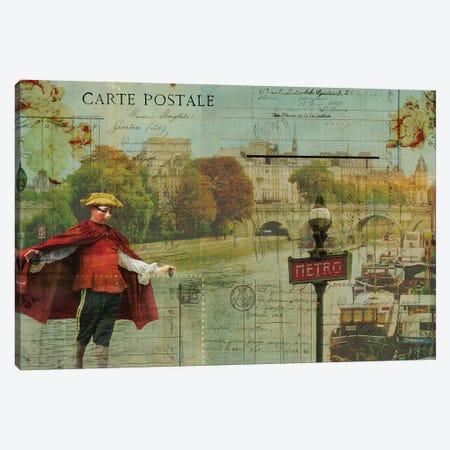 Postcards Of Paris VII Canvas Print #LOY63} by Sandy Lloyd Canvas Print