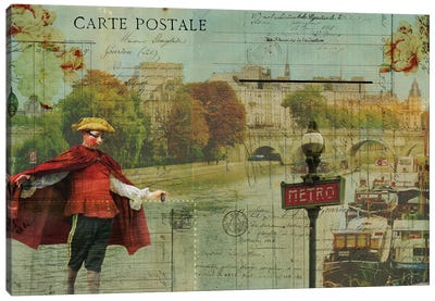 Postcards Of Paris VII Canvas Art Print
