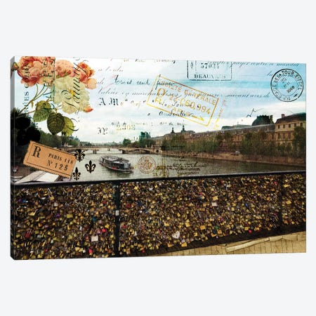 Postcards Of Paris VIII Canvas Print #LOY64} by Sandy Lloyd Canvas Art