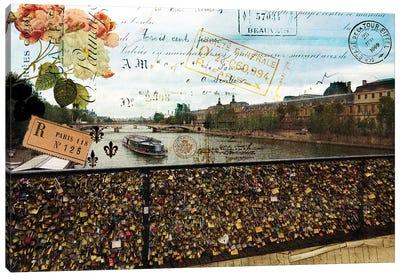 Postcards Of Paris VIII Canvas Art Print