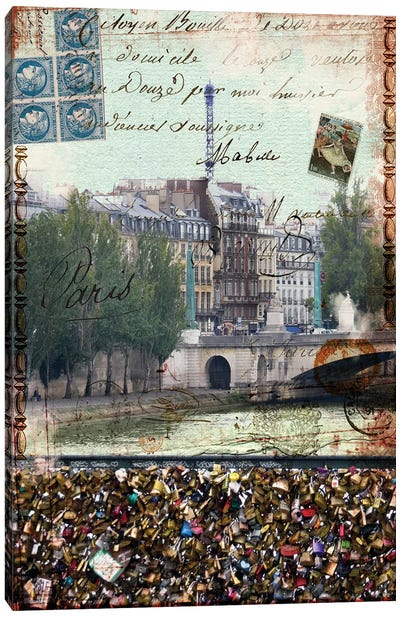 Postcards Of Paris IX Canvas Art Print