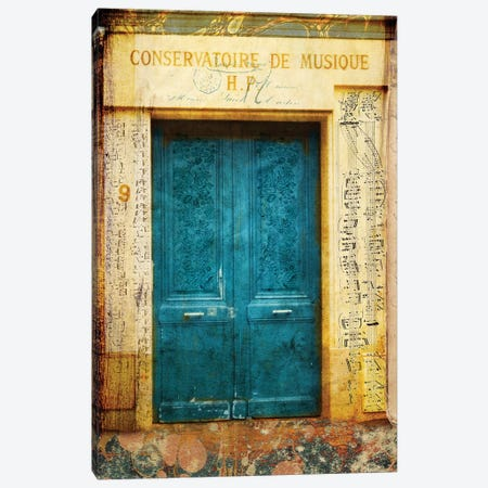 Postcards Of Paris XI Canvas Print #LOY67} by Sandy Lloyd Canvas Wall Art