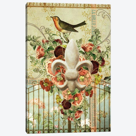 Postcards Of Paris XII Canvas Print #LOY68} by Sandy Lloyd Art Print