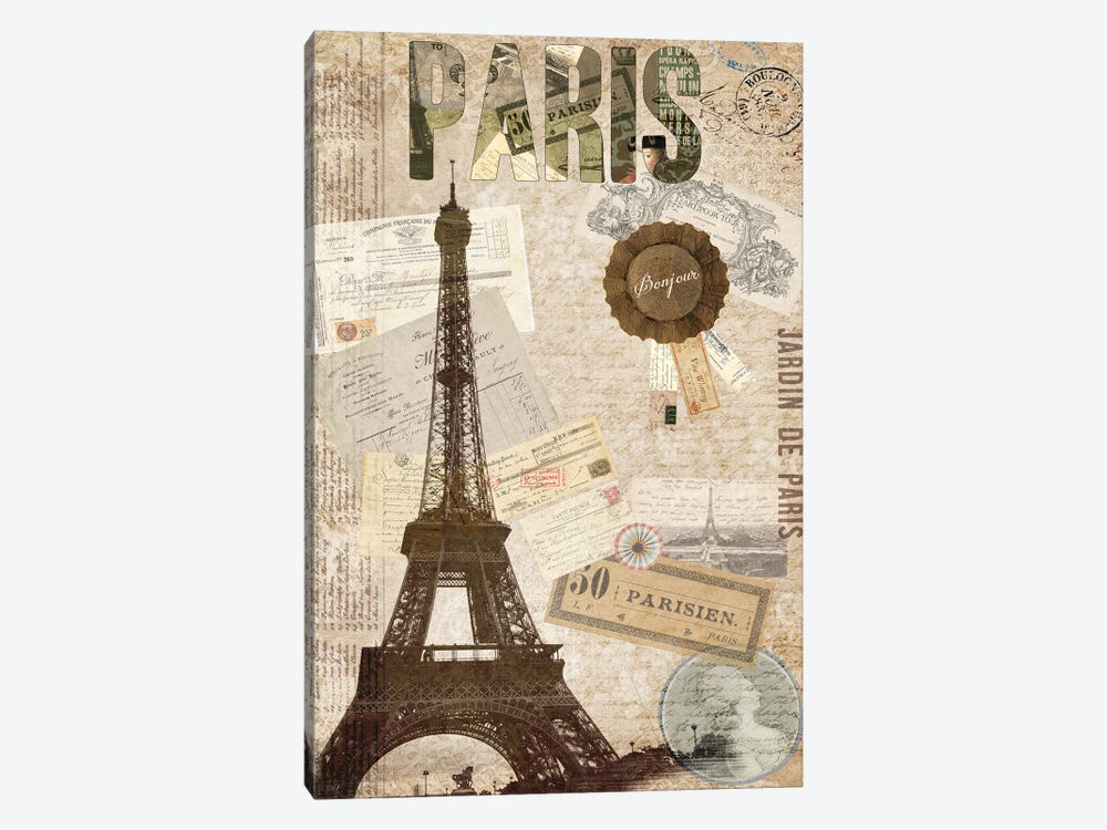 Postcards Of Paris XIV 1-piece Art Print