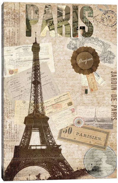 Postcards Of Paris XIV Canvas Art Print