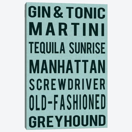 Cocktails Canvas Print #LOY7} by Sandy Lloyd Canvas Art Print