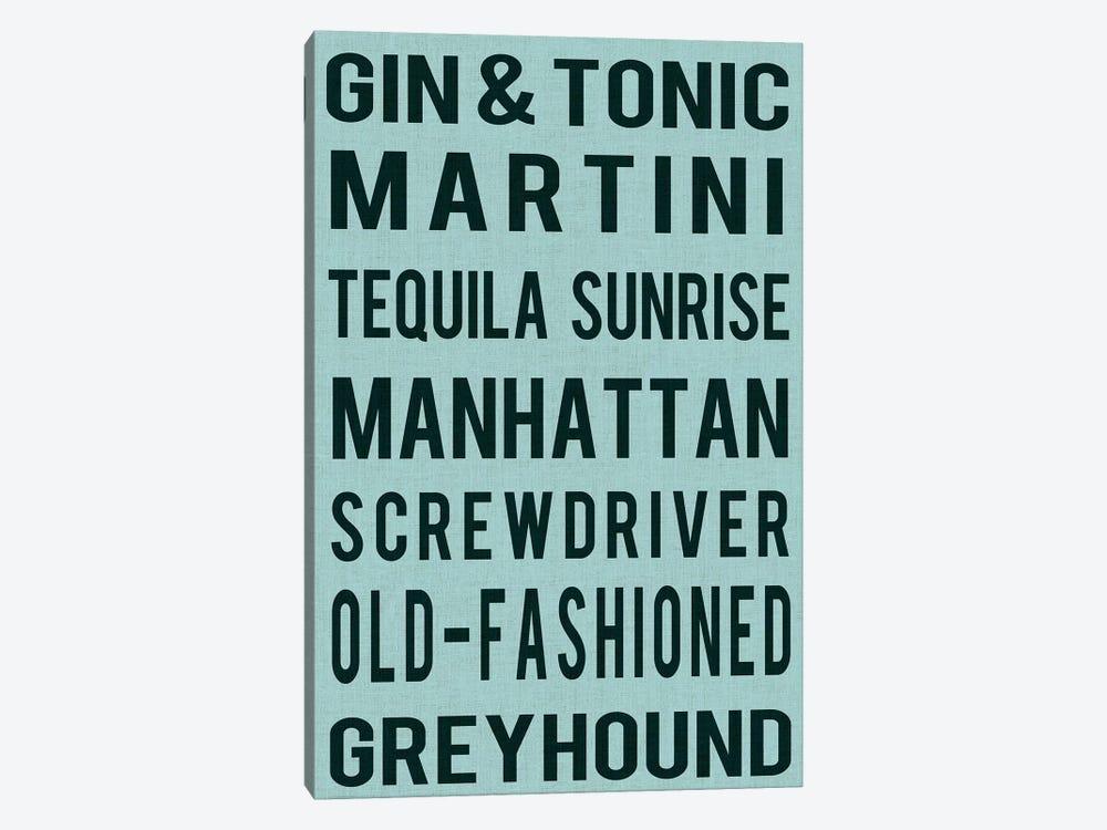 Cocktails by Sandy Lloyd 1-piece Canvas Artwork